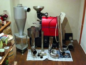 焙煎機の大掃除